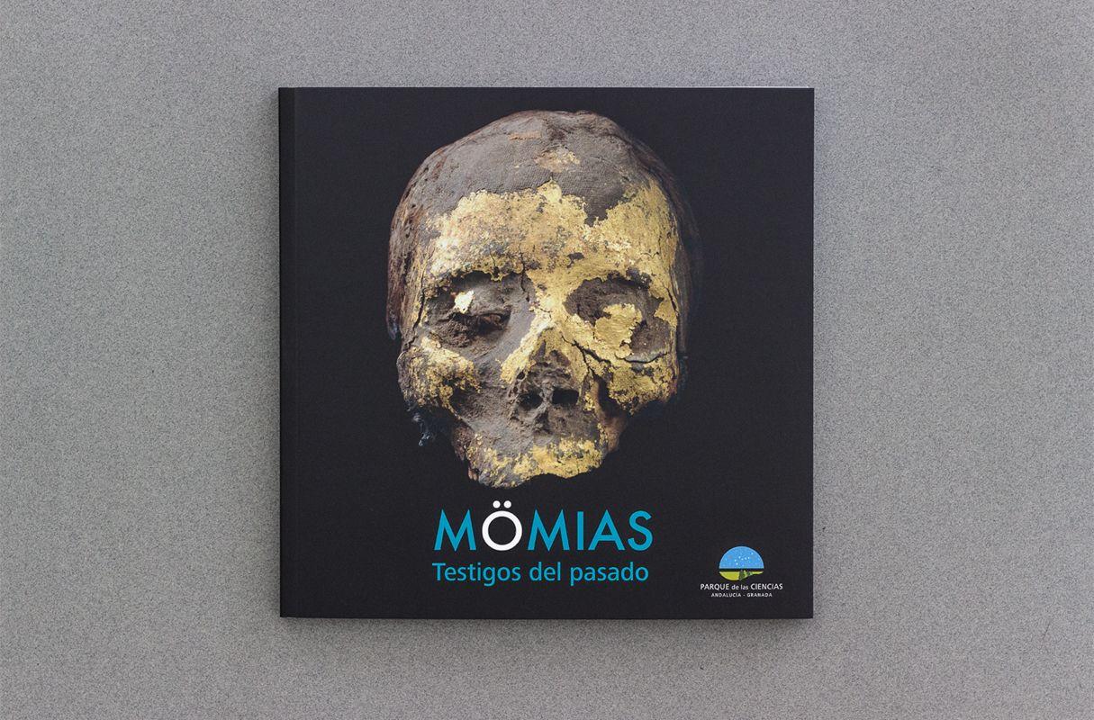 portada del catálogo exposición momias del parque de las ciencias de granada