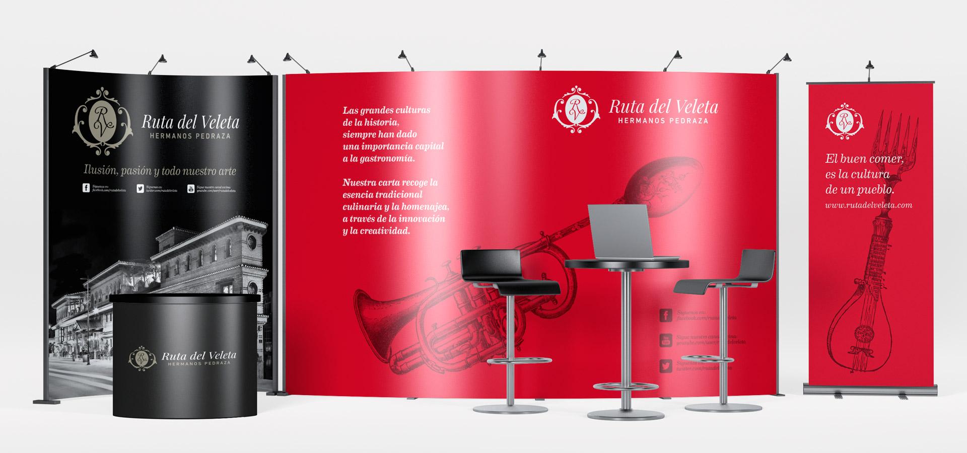 diseño stand restaurante ruta del veleta