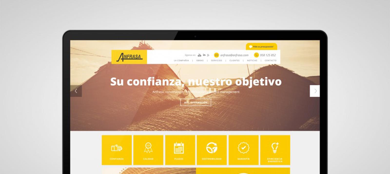 Slider Diseño web Anfrasa