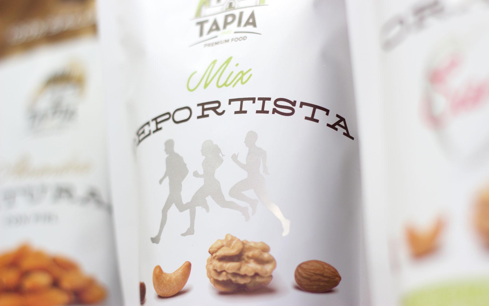 Detalle de diseño del packaging de Tapia