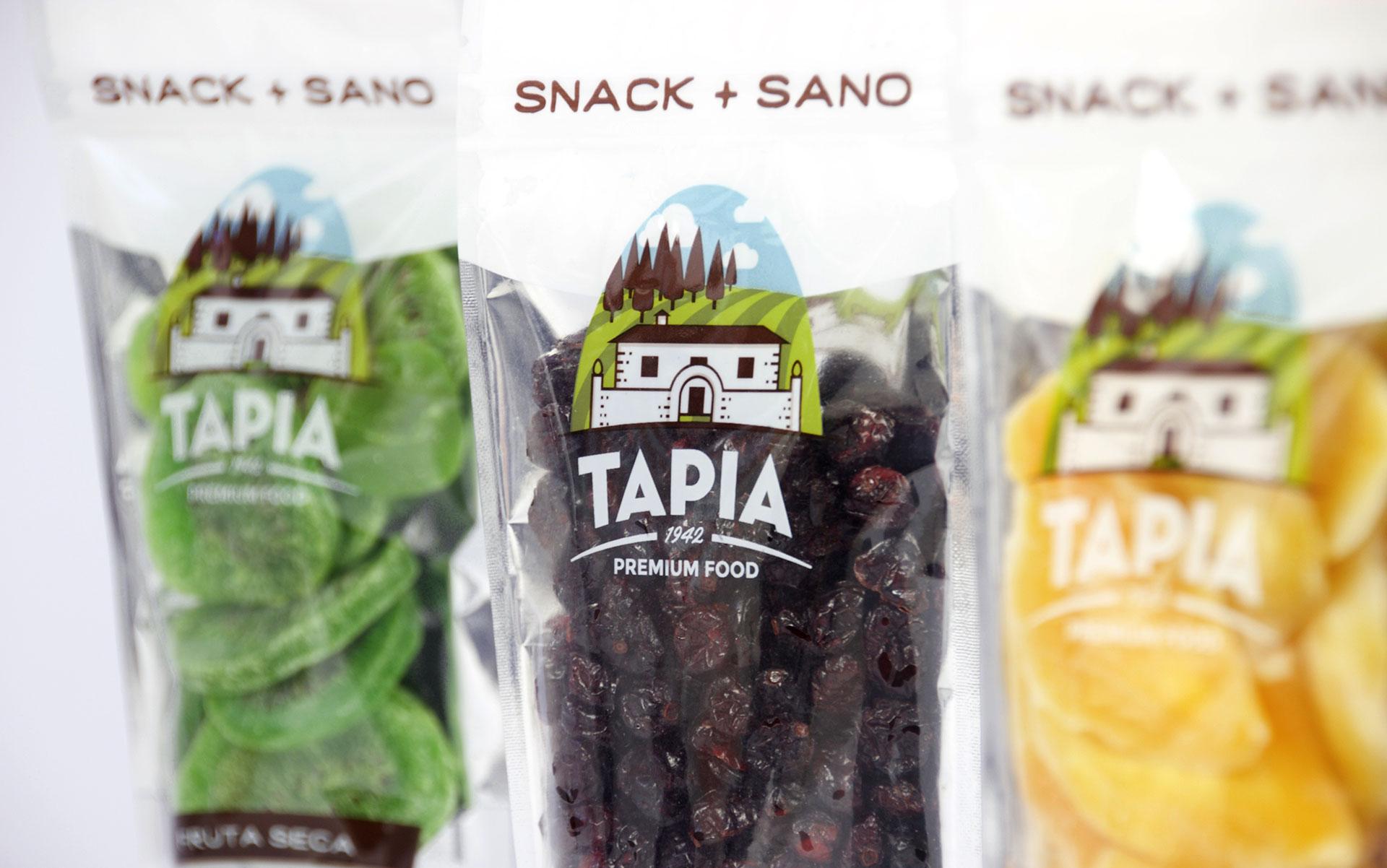 Detalle de impresión del packaging de Tapia