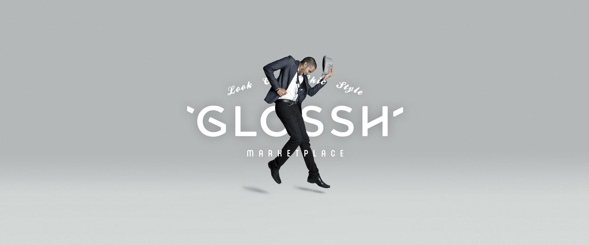 Logotipo Marca Diseño Web Glossh Marketplace