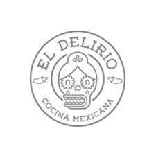 Diseño identidad corporativa Logotipo Delirio Restaurante