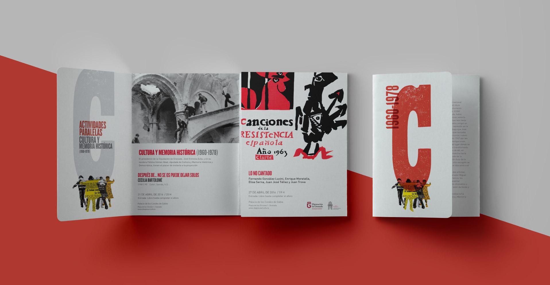 folleto de mano jornadas Cultura y memoria historica Cultura y Memoria Histórica img-total