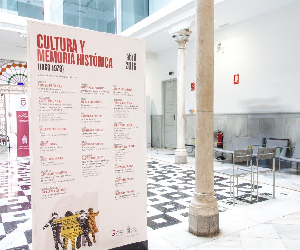 calendario jornadas Cultura y memoria historica