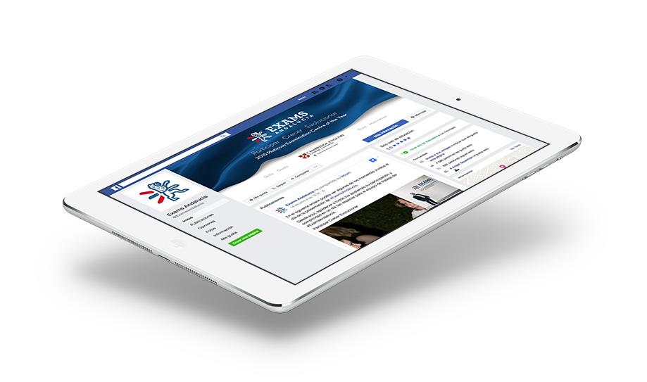 Diseño de cabecera y avatar de Facebook para Exams Andalucia