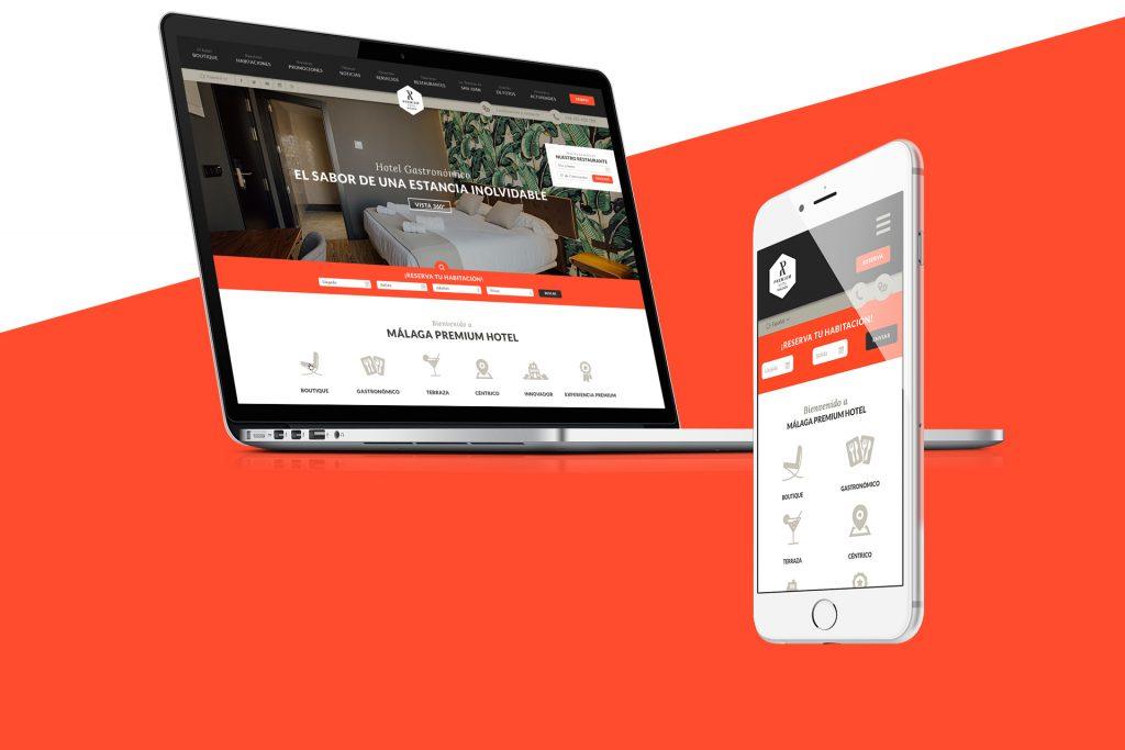 Diseño web para Hotel Málaga Premium