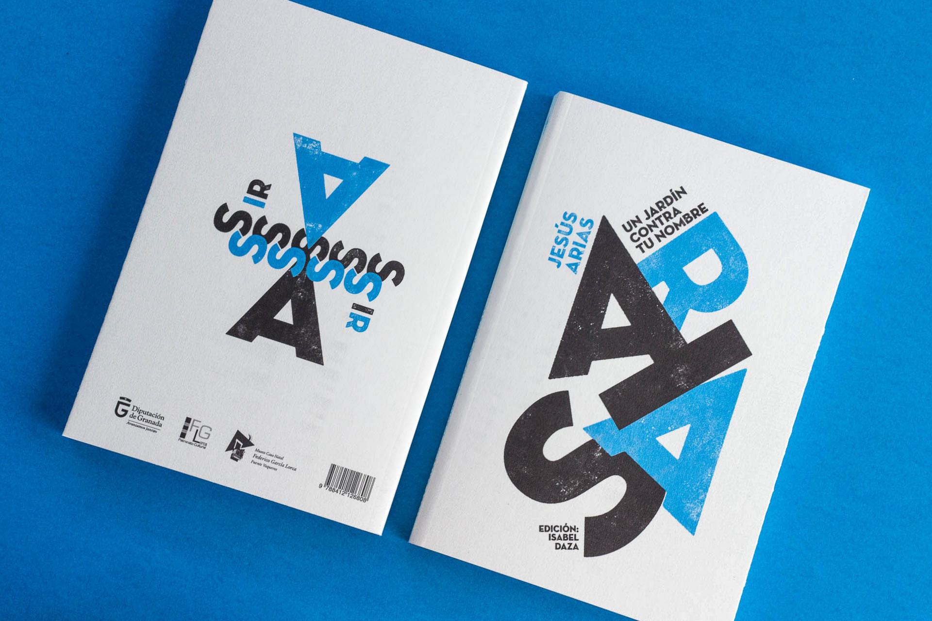 Diseño de Portada y contraportada libro Jesús Arias