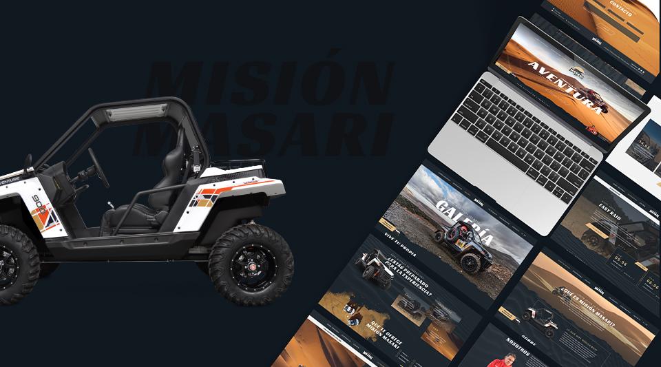 Diseño de pantallas para la web de Misión Masari
