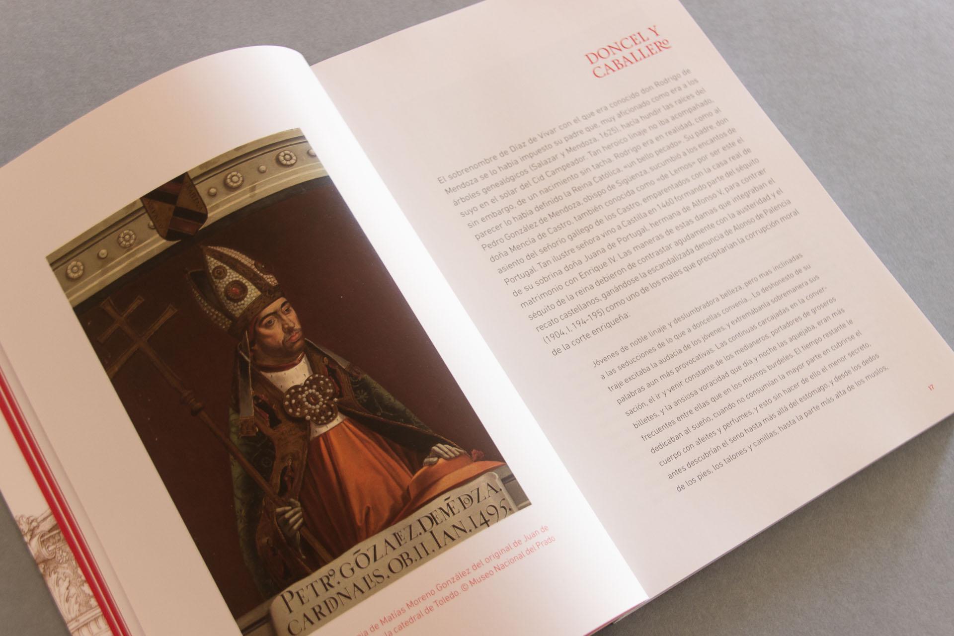 Detalle de maquetación del libro del Marqués de Cenete
