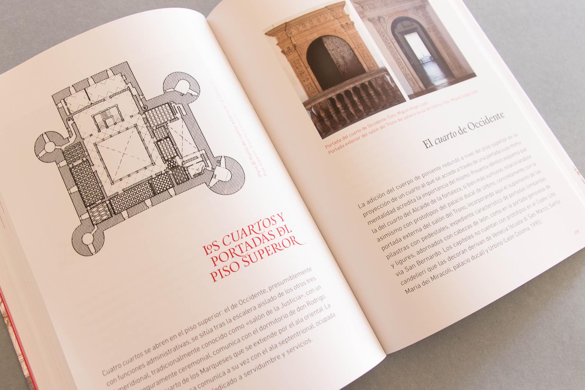 Detalles de diseño y maquetación del libro del Marqués de Cenete