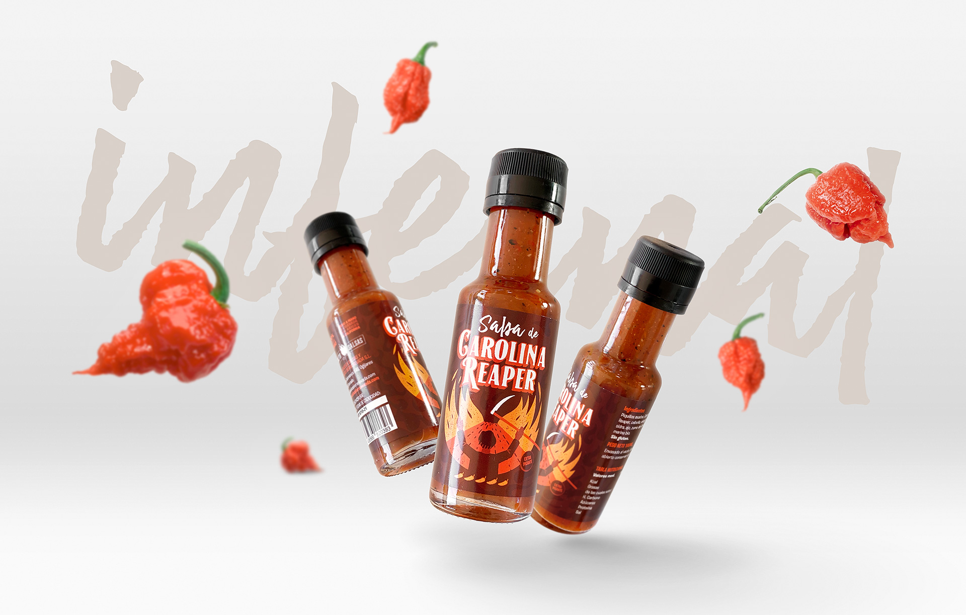 Packaging de Salsa Carolina Reaper