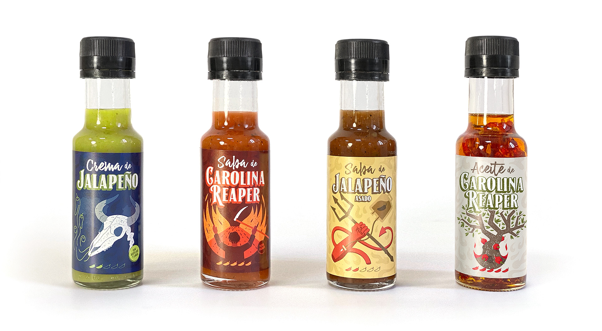 Diseño de línea de productos de Doctor Salsas
