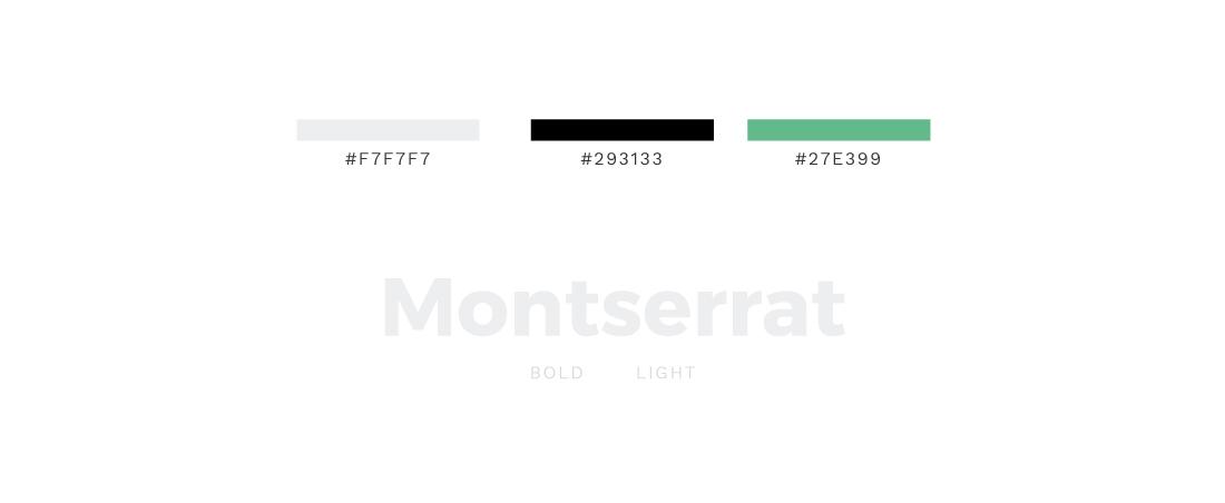Colores y tipografías usadas en la web de Filbak