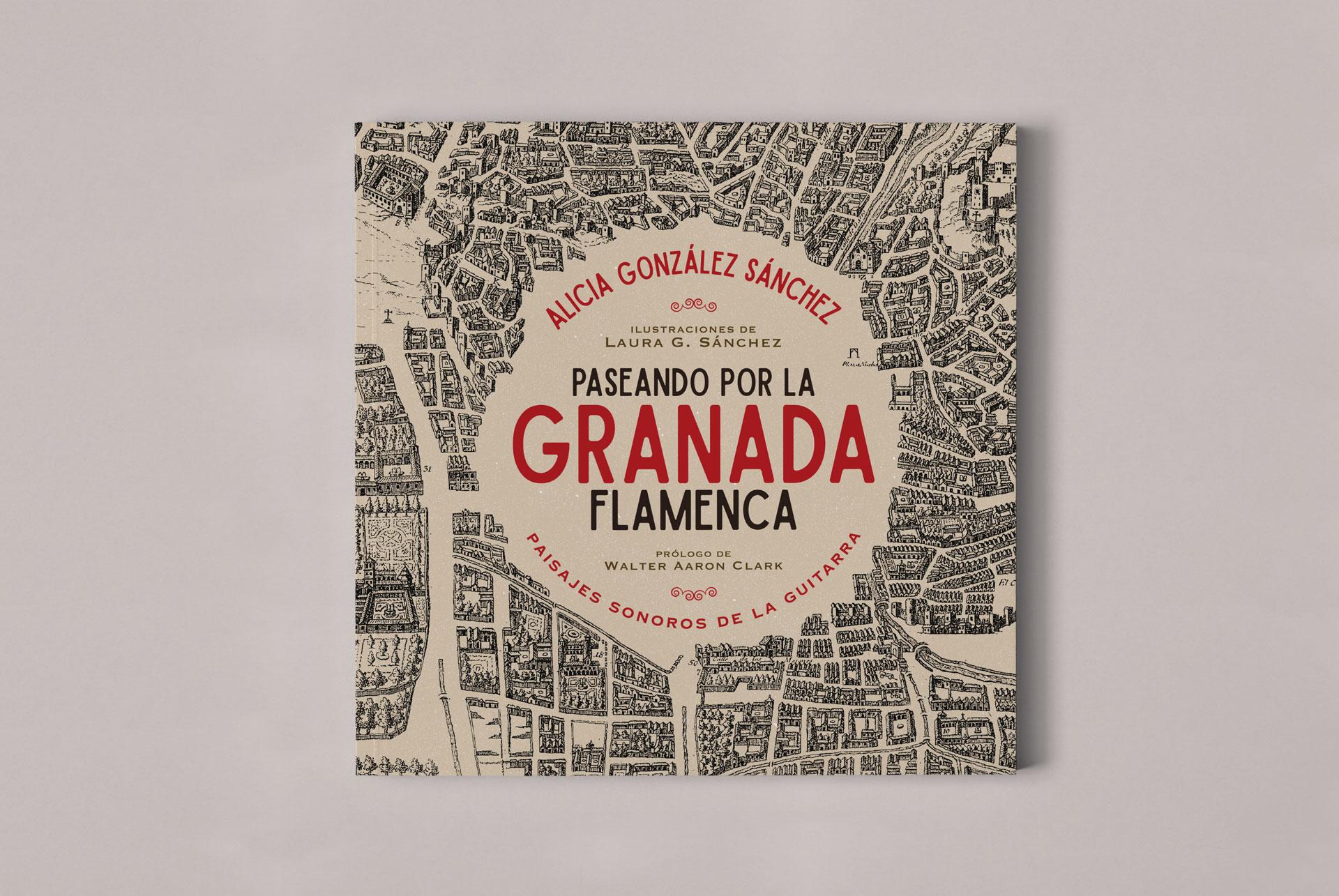 """Diseño editorial """"Paseando por la Granada Flamenca"""""""