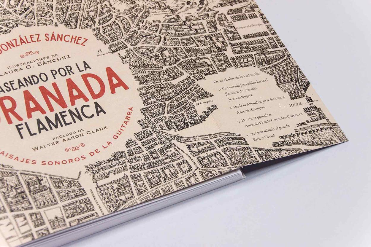"""Solapa libro """"Paseando por la Granada Flamenca"""""""