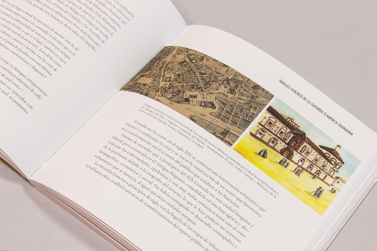 """Diseño editorial libro """"Paseando por la Granada Flamenca"""""""